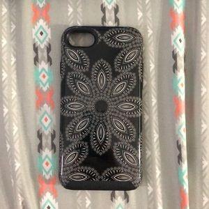Black Vera Bradley iPhone 7/8 case